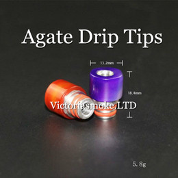 Wholesale New Style Ecig - New Arrival Ecig Drip Tips 510 Agate Drip Tips For RDA Wide Bore Style E Cigarette Mouthpiece Drip Tips RDA Drip Tips drip tips for e cigs