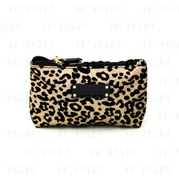 Wholesale Leopard Gift Bags - Famous brand leopard cosmetic case luxury makeup organizer bag beauty toiletry wash bag clutch bag purse tote vanity pouch boutique VIP gift
