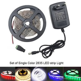 best bright led kit - Set of 3528SMD Super Bright Led Strip Led Tape Kits Red Blue Green Warm White LED Bar Strip With DC12V 2A Power Adapter