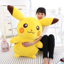 Wholesale Couples Toys - Wholesale-2016 new manufacturers selling genuine large pet plush toy doll Pikachu elf couple