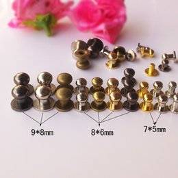 Wholesale Dome Studs - 5mm dome rivet for leather craft accessories screwback studs for pet necklace copper material silver gunblack gold bronze
