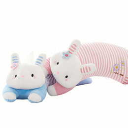Wholesale Pelucia Kawaii - Funny Rabbit Pillows Plush Toys Cartoon Stuffed Animals Sleeping Baby Doll Kawaii Graduation Gift Coelho Pelucia Kids Toy 70G0593