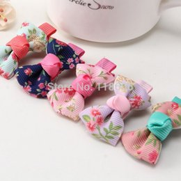 Wholesale Hairbow Flowers - Free shipping 300pcs lot Boutique Newest Girls Hair Bow Flower Grosgrain Ribbon Hairbows Floar Hairbow