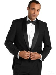 Wholesale Top Quality New Groom Tuxedos - 2016 New Stylish Top Quality Groom Tuxedos Men's Wedding Dresses Prom Clothing Custom Made (Jacket+pants+Bows tie+girdle)NO13