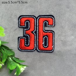 Wholesale Wholesale Number Iron Patch - Free shipping~36 numbers badge embroidered Appliquesgel patch can be sewn can iron clothes DIY accessory garment bag hot