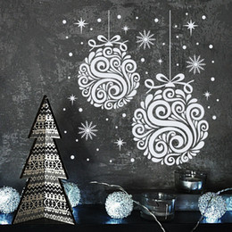 Wholesale Snowflake Vinyl Window Stickers - Newest 2017 Christmas Vinyl Removable Wall Sticker For Home Bedroom Window Art Decors Special Snowflakes Vinyl Wall Mural D-160