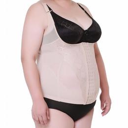 Wholesale tummy firming wrap - Wholesale- Underbust Stomach Waist Slimming Slimmer Shaper Corset Bustier Long Waist Trainer Belt Vest Tummy Slim Body Control Wrap Shaper