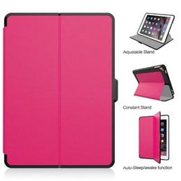 Wholesale Ipad Smart Cover Red - For iPad 2017 Mini 1 2 3 4 Leather Case lattice pattern Smart Case Cover TPU+Canvas For iPad 2 3 4 Air2 iPad Pro 9.7 10.5