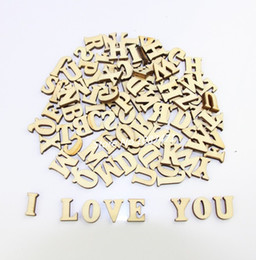 komplette hochzeit Rabatt Komplette 26 englische Alphabet Buchstaben Großhandel Holz Holz Handwerk Dekoration Alphabet Hochzeit Geburtstag Figuren Miniaturen
