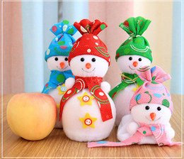 Wholesale Toy Cloth Bag - Christmas Toys Apple Bag Kids Cute Gifts Snowman Soft Toy For Home Christmas Tree Decoration New Year Gift