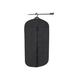 Wholesale Garment Zippers Bags - Wholesale- Black Travel Suit Wedding Cover Skirt Dress Garment Coat Shirt Bag Carrier organizer