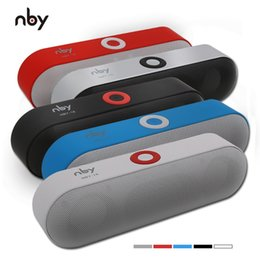 Wholesale Wholesale Speaker Systems - Hot NBY-18 Mini Bluetooth Speaker Portable Wireless Speaker Sound System 3D Stereo Music Surround Support Bluetooth,TF AUX USB In Stock