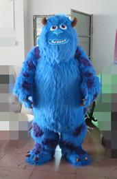 Professionale Sully Mascot Head Costume Halloween Natale puntelli di compleanno Costumi Outfit personaggio dei cartoni animati in maschera di taglia adulto da adulti abiti di natale fornitori