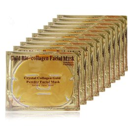 Wholesale Crystal Collagen Bio - Bio-collagen Gold Face Mask Crystal Mask Skin Care whitening moisturizing Anti-Aging collagen facial mask skin care DHL Free Shipping