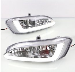Hyundai drl on-line-LED DRL Para Hyundai Santa Fé IX45 2013 2014 2015 luzes diurnas Fog lâmpada shell