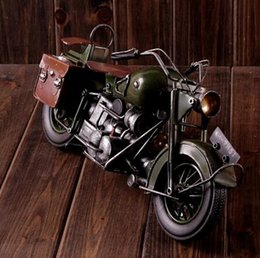 Wholesale Handmade Metal Motorcycles - lastest creative zakka crafts handmade USA style classic motorcycle motorbicycle grocery alloy classic vintage model coffee bar home decor