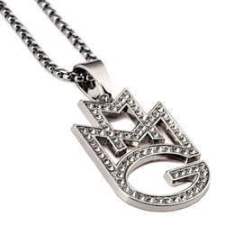 Wholesale Long Diamond Necklace Design - New Style Fashion Mens Silver Small MMG Necklaces Mens Hip Hop Jewelry AA diamond Design Punk Rock Micro Men Long 75CM Chain