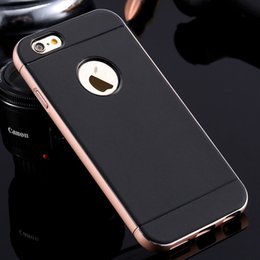 Wholesale Double Color Metal Aluminum Case - Luxury Aluminum Metal Double Color Case for Apple iphone6 Plus 5.5 Hard Slim Tough Accessories Armor Back Cover for iphone 6 4.7
