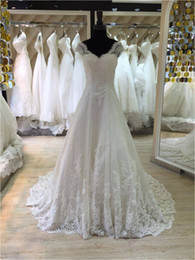 Wholesale Long Floral Skirts For Women - A Line Lace China Designs 2016 Long Floor Length Custom Made Formal Bridal Gowns Designs NW041 Wedding Dresses For Black Women