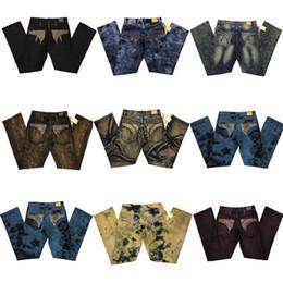 Wholesale Bicycle Print - Senior designer brand jeans 2017 bicycle robin jeans Manual paste crystal golden wings black robin jeans Men's fashion crime zipper pants