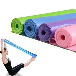 Wholesale Stretching Yoga Bands - Wholesale-1.5m Yoga Rubber Stretch Pilates Yoga Workout Aerobics Stretch Band Tensile Band Elastic Resistance Bands Free Shipping