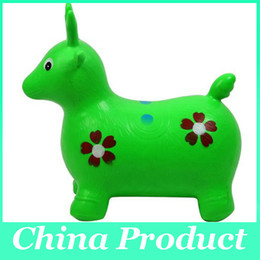 Wholesale jumping animals toys - New arrival thickening jumping deer cow jumping horse toy inflatable toy sports toy,outdoor fun & sports,toycity free shipping 010273