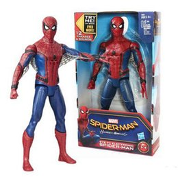 Wholesale Hot Men Toys - Neweat Superhero Spider Man Toys Movie Action Figures Spider Man Modeling Can Make Sound Hot Kid's Toys Birthday Gift