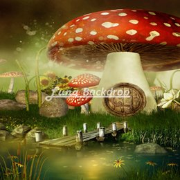 Wholesale 8X8ft x240cm Mushroom house Vinyl Photography Background Backdrops backgrounds for photo studio F1743