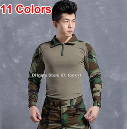 Wholesale Emerson Shirts - Military clothing german camouflage clothes kryptek camo uniform emerson combat shirt paintball tactical clothing for hunting