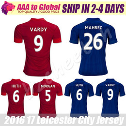 Wholesale Free Soccer Jerseys - Leicester City shirts 2016-17 Leicester City Football Jersey Top quality VARDY MAHREZ DRINKWATER KANTE KING Soccer Jersey Free Shipping