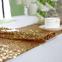 Wholesale Banquet Decorations - 30*180cm Table Runner Sequin Runners Multi Pure Color High Density Table Cover For Hotel Wedding Banquet Decoration Runners