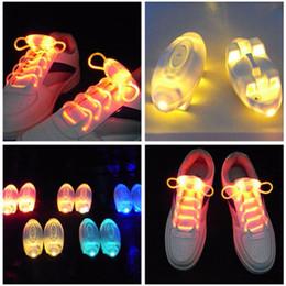 Wholesale Led Flashing Light Shoe - Wholesale free shipping Party Skating Charming LED Flash Light Up Glow Shoelaces Shoe Laces Shoestrings