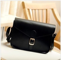 Wholesale White Briefcase Leather - New Fashion Crossbody Bag PU Leather Girl Women Shoulder Bag One Shoulder Briefcase High Quality Factory Wholesale