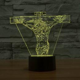 microfone usb Desconto LED Noite Novidade Produto 3D Lamp Jesus Forma Tabela Micro USB Lamp contato com Linha USB HR-3006