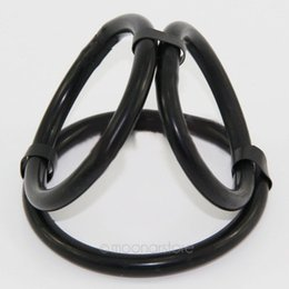 Wholesale Adult Cases - Wholesale- Silicone Sex Toys Penis Rings Cock Ring Delayed Ejaculation Adult Sex Products Cock Cage Casing Delay Lock Loops funny game toys