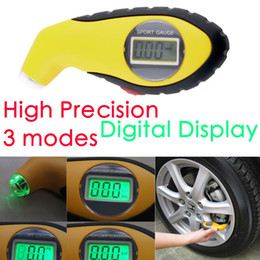Wholesale Car Gauge Lights - 5.0-100PSI LCD Digital Tire Tyre Air Pressure Gauge Tester Night Light Tool For Auto Car Motorcycle PSI, KPA, BAR