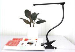 Wholesale Power Saving Switches - LED table lamp Flexible 17 LEDS SMD 2835 Desk lamp 100~260 USB AC power Energy Saving Adjustable Table Lamps Reading Light