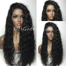 Wholesale Cheap Brazilian Water Wave Hair - Natural water wave Silk Top Full Lace Wigs Brazilian Full Silk Base Wigs Glueless Silk Top Full Lace Human Hair Wigs Cheap