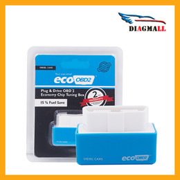Wholesale Saab Hid - Increase Hidden Power Blue EcoOBD2 Diesel Economy Chip Tuning Box Plug And Drive Eco OBD2 For Diesel Car Lower Fuel And Emission