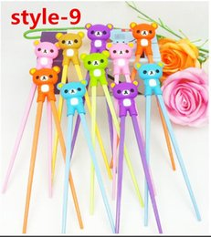 Wholesale Kids Training Chopsticks - Children Chopsticks Gift Cartoon Style Kids Children Learning Training Chopsticks exercise Early Education Beginner Training