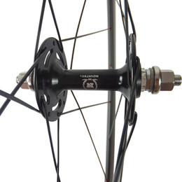 Wholesale Rear Gears - Wholesale-carbon track rear wheel 50mm clincher carbon track single wheel with 166SB fixed gear wheel hub
