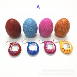 Wholesale Hold Battery - Tamagotchi tumbler Toy with a keychain EDC Multi-color Cartoon Surprise Egg Electronic Pet Mini Hand-hold Game Machine Gifts Toy B