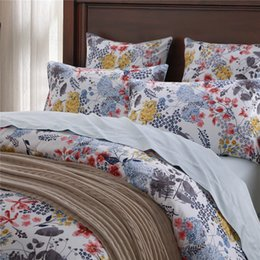 Wholesale King Size Luxury Comforter Sets - Home textile New Classic country style 100% luxury Egyptian cotton 4pcs Bedding sets flowers queen king size duvet cover pillowcase