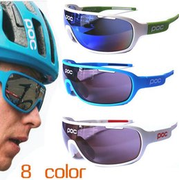 Wholesale Orange Inch - 2017 POC sunglasses 4 lens polarized Cycing Eyewear Men Women Goggles Gafas cicismo Sport Bicycle Mountian do blade MTB Sport bike glasses