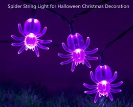 Wholesale Christmas Tree Window Decoration - LED Fairy String Lights 2M 20LED AC 110V 220V Spider String Light for Halloween Christmas Decoration for Garden Window Tree Party