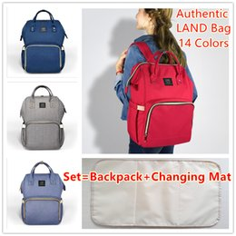 Wholesale Wholesale Nappy Changing Bags - Mommy Bags Backpacks Mother Maternity Nappies Diaper Backpacks Large Volume Outdoor Travel Bags Organizer with Changing Mat 14 colors MPB01