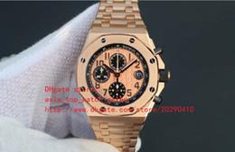 oro rosa 18k Rebajas Venta directa de fábrica Relojes de lujo para hombre Reloj de pulsera Limited Cronógrafo de cuarzo 18k Relojes de oro rosa para hombre de acero inoxidable