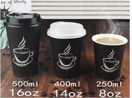 Atacado-500 ml biodegradável xícara de café de papel, caneca de café descartável com tampa e palha para lojas de Fornecedores de copos de copos piratas