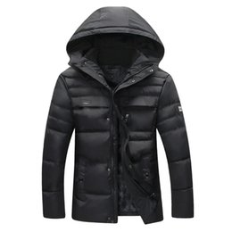 Wholesale Plus Size Outerwear Outdoor - Fall-Men's 2015 Winter Thick Warm Coats Hooded Plus Size Long Section Cotton Padded Jackets Outdoor Casual Fashion Outerwear MCJ53