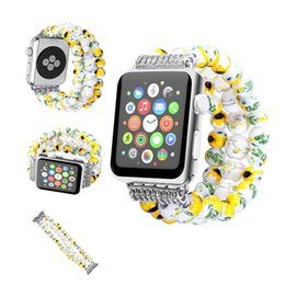 Wholesale Watch Wholesale China Luxury - Newest model Luxury lady girl china link strap for apple watch band 38mm 42mm series 1 2 3 ceramic design for iwatch strap